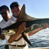 Client with Marlin. Los Barriles fishing charter on the Maria Teresa.