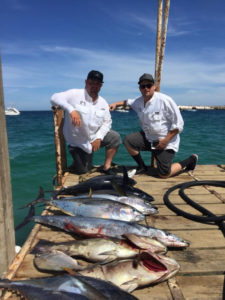 Clients with Fish in Los Barriles. Maria Teresa Sportfishing