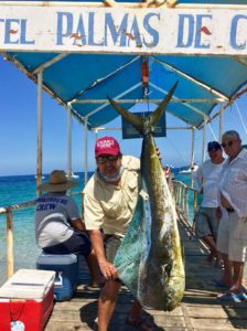 A nice sized Bull Dorado brought in this week at Van Wormer Resorts